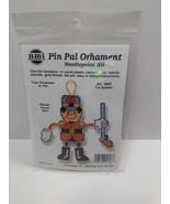 Vintage Needlepoint Christmas Kits Tin Soldier Tree Ornament or Pin 5606... - $11.75