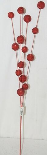 Unbranded 54805 Red Ball Spray Holiday Decoration