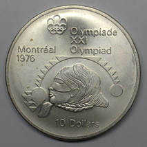 1975 CANADA $10 WOMEN'S SHOT PUT MONTREAL OLYMPICS COMMEMORATIVE SILVER ... - $39.99