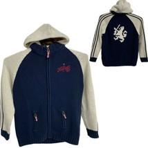 Tommy Hilfiger 85 Youth Cotton Full Zip Navy Blue Knit Jacket L (16/18) (E-1K) - $24.75