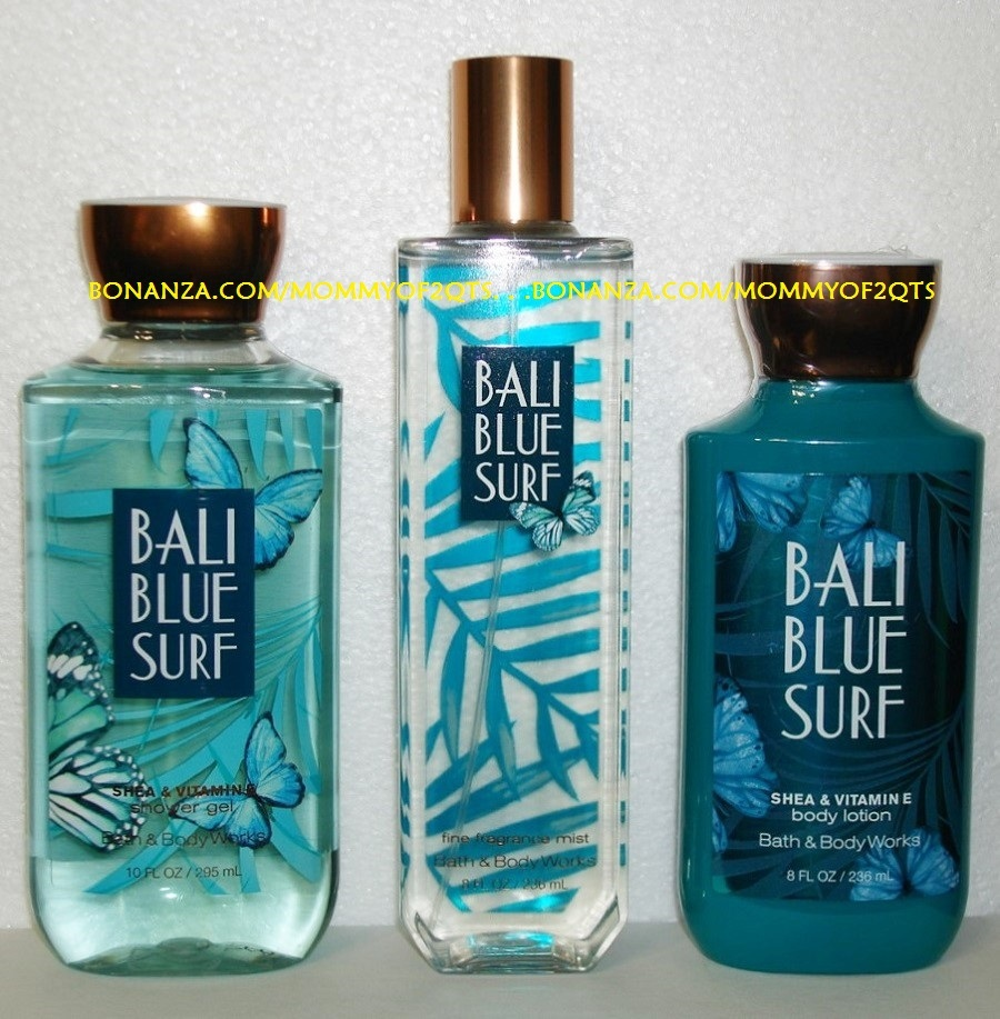 Bali Blue Surf Bath and Body Works Fragrance Mist Body Lotion Shower Gel