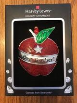 "Swarovski Crystal Holiday Ornament ""Best Teacher"" Ships N 24h - $47.51"