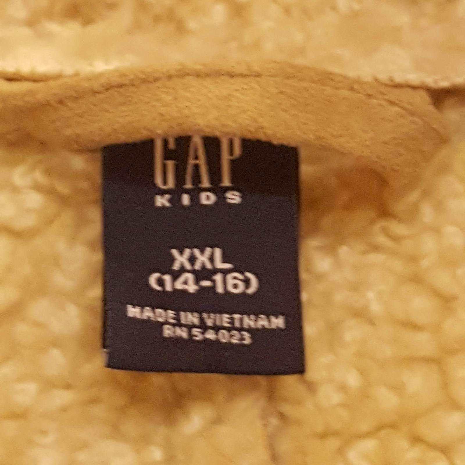 GAP GIRLS FAUX SUEDE BEIGE COAT XXL 14-16 with embroidery image 3