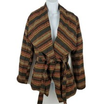 Jack Wool Blend Women's Wrap Brown Knit Jacket with Belt Size S - $23.64