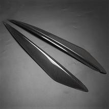 Carbon Fiber FRP Headlight Cover Eyebrows Eyelid Trim Sticker Decals For... - $69.29