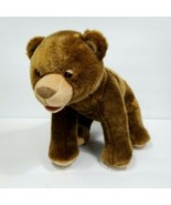 "Eric Carle Brown Bear Stuffed Animal Plush Kohls Cares 13"" Long Realisti... - $19.79"