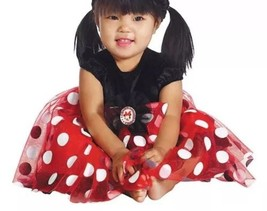 girls infant baby 6-12 months MINNIE MOUSE Dress costume red white polka... - $8.90