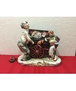 Antique KALK German Bisque Porcelain Organ Grinder Crossed Arrows - $350.00