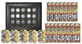GOLDEN BASEBALL LEGENDS 24K Gold Plated State US Quarters 15-Coin Set WA... - $29.65