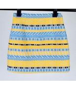 Zara Woman Blue Yellow Stripe Skirt Knee Length Skirt Geometric Woven Si... - $19.79