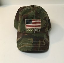 New! Polo Ralph Lauren Camouflage American Flag Cap Hat Adjustable Strap  - $49.99