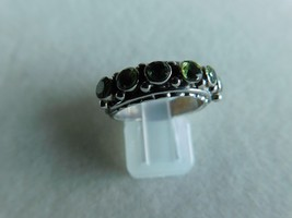 925 STERLING SILVER HAND MADE PERIDOT FACETED RING OF WT.-5 GMS. - $28.48