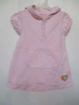 Gap Girl's Size 2T Years 100% Cotton Pink Solid Short Sleeve Dress Hoodie - $20.00