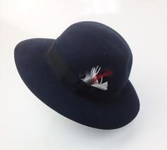 Christys' Of London ( Bloomingdales ) Wool Fedora HatNavy  X large - $74.24