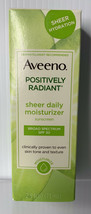 Aveeno Positively Radiant Sheer Daily Moisturizing Sunscreen Spf 30 2.5oz 01/21 - $11.88