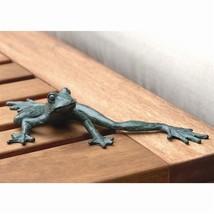 Cute Iron Beach Tropical Frog Long legs Garden Pond Figurine,9.5''W. - $37.62