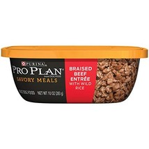 Purina Pro Plan Wet Dog Food, Savory Meals Braised Beef Entree With Wild... - $36.42
