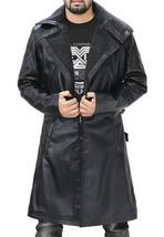 Ryan Gosling Blade Runner Officer K Fur Collar Black Leather Belted Trench Coat image 3