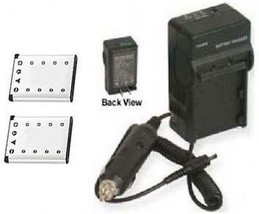 2 Two Batteries +Charger for Olympus IR-300 D-630 D-720 D-725 D-730 FE-2... - $33.17