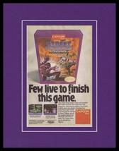 Street Fighter 2010 NES 11x14 Framed ORIGINAL Vintage Advertisement - $34.64