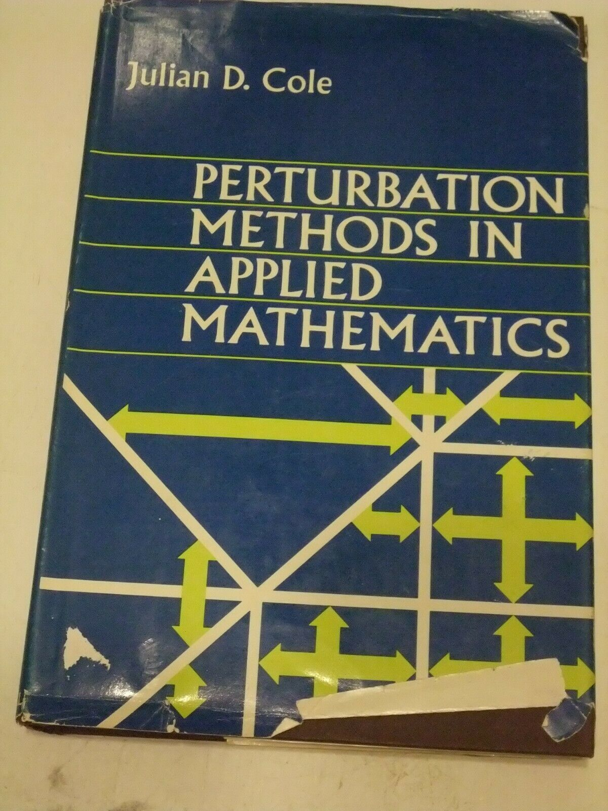 Primary image for Perturbation Methods in Applied Mathematics: By J D Cole 1968