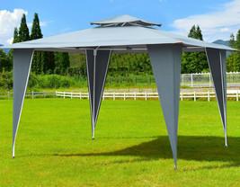Garden Gazebo Waterpoof Canopy Vented Tent Roof Heavy Duty Steel Frame P... - $126.12