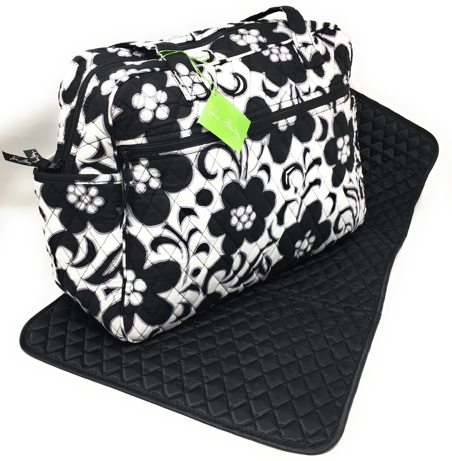Vera Bradley Baby Bag / Diaper Bag Night & Day with Black Interior - NWT - $69.95