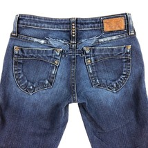 ROBIN'S JEAN Garbot Low Rise Wing Jeans Distressed Womens 28 30 X 33 - $38.68
