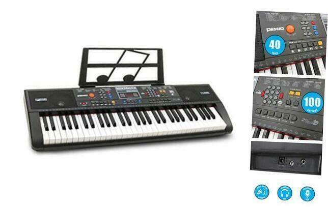 Primary image for 61-Key Digital Electric Piano Keyboard & Sheet Music Stand - Portable