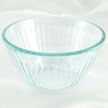 Pyrex 7401-S Ribbed Side Vintage Blue Glass Serving Bowl 3 Cup ~ CHIPPED... - $12.95