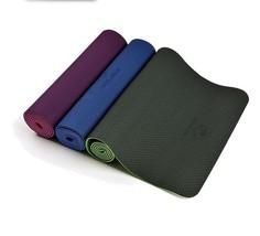 Natural Rubber TPE Yoga Mat Folding Non-slip Surface Light Weight Comfor... - £40.59 GBP