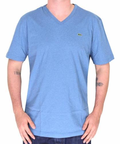 Lacoste Men's Sport Premium Pima Cotton V-Neck Shirt T-Shirt Stratus Chine 3XL