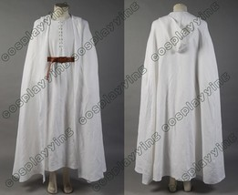 Lord of the Rings Gandalf White Cosplay Costume Robe Cloak Cape Halloween Outfit - $118.99+