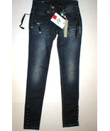 New Womens Designer High Use 26 Dark Snap Jeans NWT H-I-G-H Claire Campb... - $281.25
