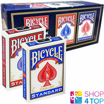12 DECKS BICYCLE DOUBLE FACE NO BACK SEALED BOX STANDARD MAGIC TRICKS CA... - $57.37