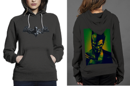 Batman Arkham Origins Z Hoodie Women Black - $35.99
