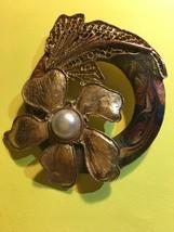 vintage enameled brooch 1960s art deco style - $40.00
