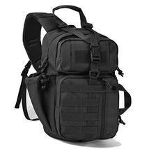Tactical Sling Bag Pack Military Rover Shoulder Sling Backpack (Black) - $30.46