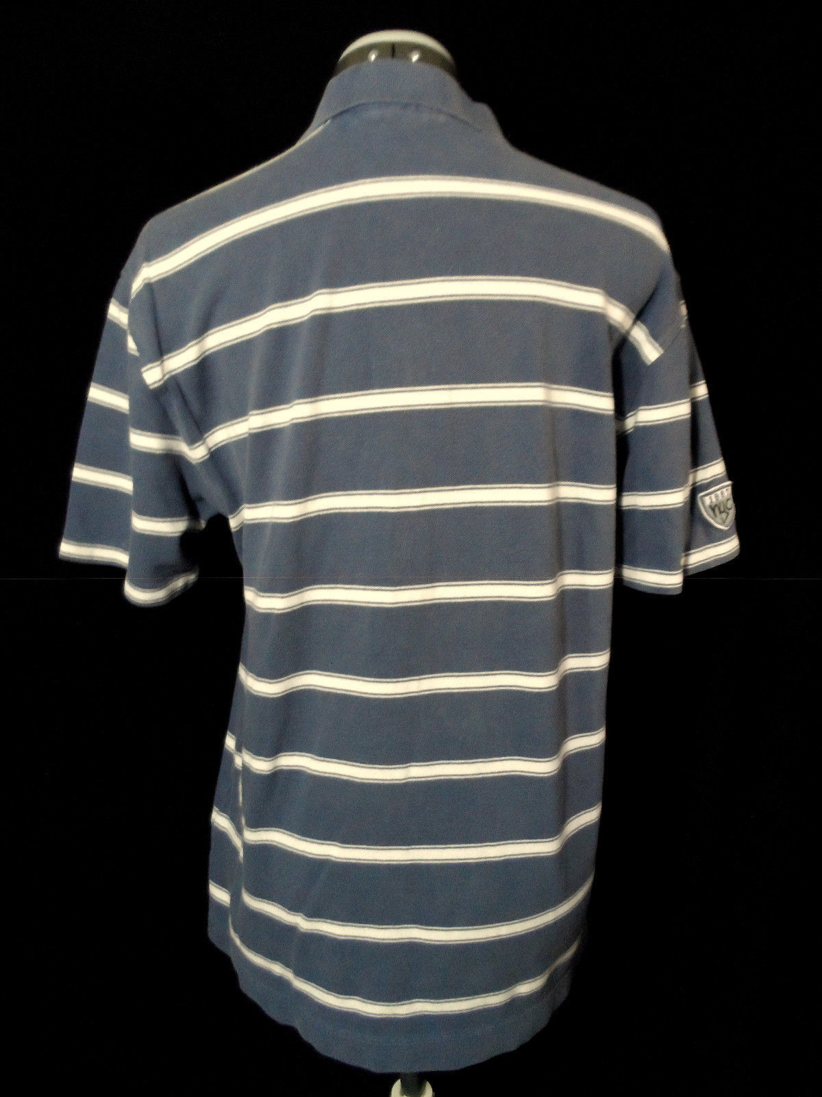 9408e8558c0 AEROPOSTALE polo T-Shirt M Blue White stripe Short sleeve Textured rugby  sporty