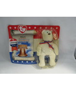 Libearty The Bear 1996 McDonald's TY Beanie Baby With Tag Errors C2805 - $14.54