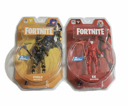 """Lot 2021 Fortnite Solo Mode Ex + Cyclo 4"""" Action Figure Jazwares Brand New - $48.32"""