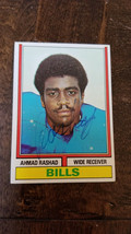 1974 Topps Signed Rookie Card Ahmad Rashad Bills Vikings Cardinals Oregon # 105 - $39.59