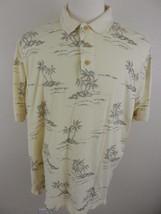 CATALINA ISLAND WEAR HAWAIIAN Polo Golf Mens Shirt Short Sleeve L Palm T... - $19.79