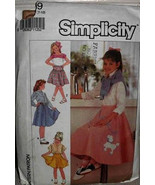 7269 Simplicity Girl Poodle Skirt Three Length Size 7-10 Costume Sewing ... - $8.00