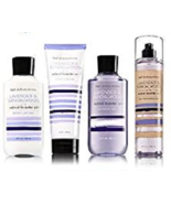4 Pc Bath & Body Works Lavender Sandalwood Set- Shower Gel, Lotion, Crea... - $33.50