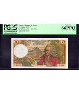 FRANCE P147d  10 FRANCS 1971-73 PCGS 66PPQ Bank of de France - $295.00