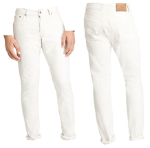 Polo Ralph Lauren Sullivan Slim Fit Jeans in Denim, White, Size 36x30 $225 - $118.79