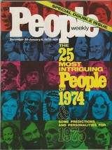 People Weekly Magazine January 5 1975 People of '74 John Glenn Gerald Ford - $29.69