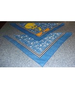 Two Brand New Blue Tweety Bird Design Dog Bandanas For Dog Rescue Charity - $9.39