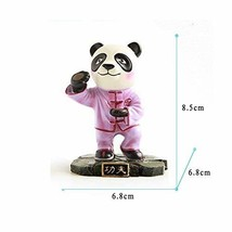 Cute Kongfu Panda Toy Mini Panda Puppet Home Decorations Kids' Gift(Purple)